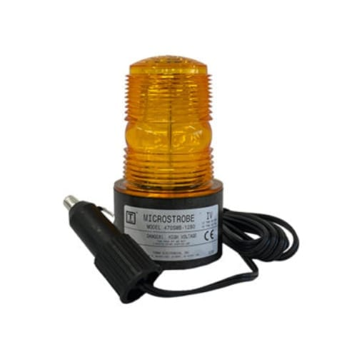 470SMB 12-80VDC DC Strobe (Magnetic Mount & 6' Straight Cord)