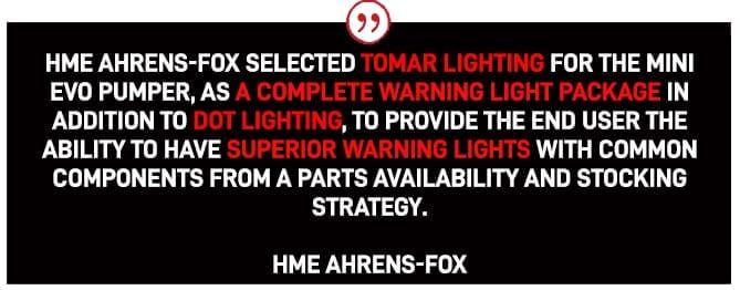 , HME AHRENS-FOX, TOMAR Electronics Inc.